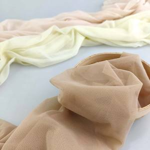 Transparent super soft skin color mesh fabric stretch tulle fabric