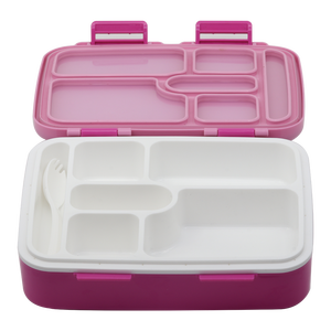wholesale china 5 compartment container pp plastic food lunch packing box container pp portable bento reusable
