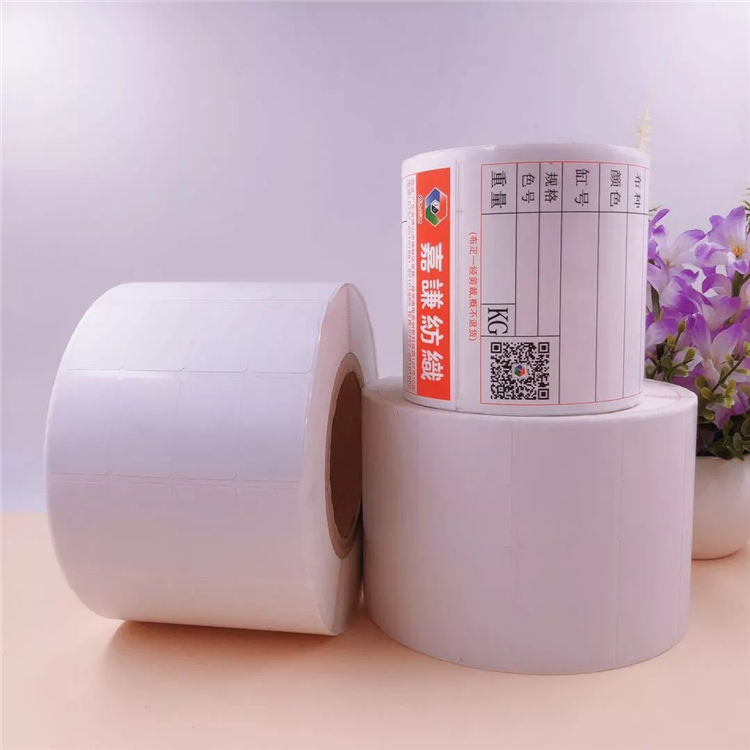 Zelfklevend leeg Papier Rolls Custom Sticker White Label Thermische Label Rolls