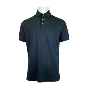 High Quality 100% Cotton Interlock Regular Fit Men's Polo Shirt Golf Shirt With Custom Logo