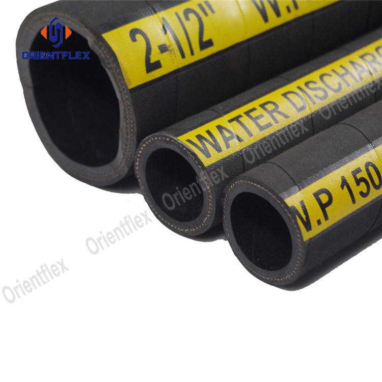 The price of rubber high pressure 100 meter water hose 100mm 20mm 40mm for water 75mm for water pump