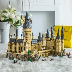 Legoing Hogwart Magic Castle School building blocks compatible with 71043 with led light Christmas Gift for Children