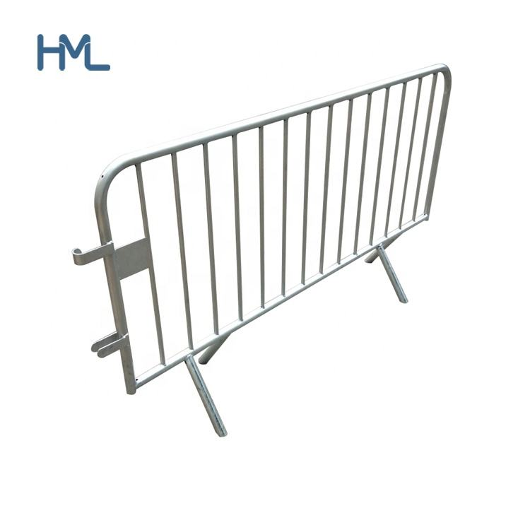 Cheap heavy duty pedestrian temporary portable metal steel road traffic crowd control police event safety barriers for sale
