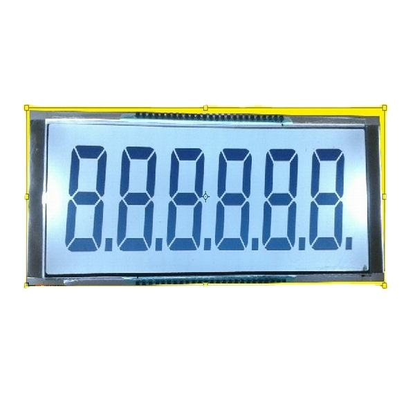 TN HTN STN 7 segment 6 digits small lcd display manufacture