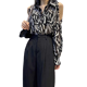 Tops Long Sleeve Strapless Women Chiffon Blouse Leopard Ladies Chiffon Shirt Casual Women Tops
