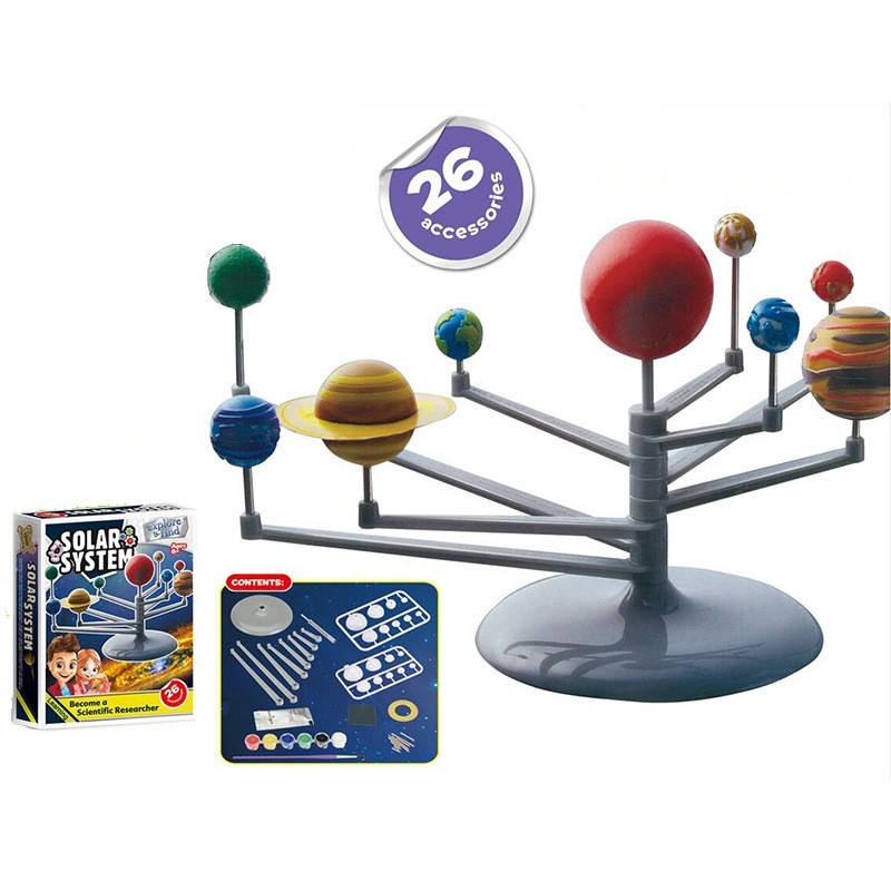 Teenagers DIY Toy Set Science and Education Series planets of the solar system Instrument Model Science Experiment Nine Planets