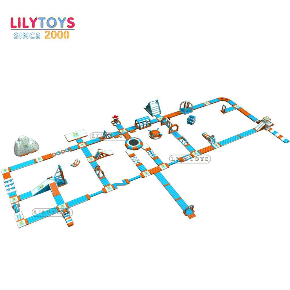 Lilytoys 0.9mm PVC commercial big inflatable water park inflatable water game for sea or beach