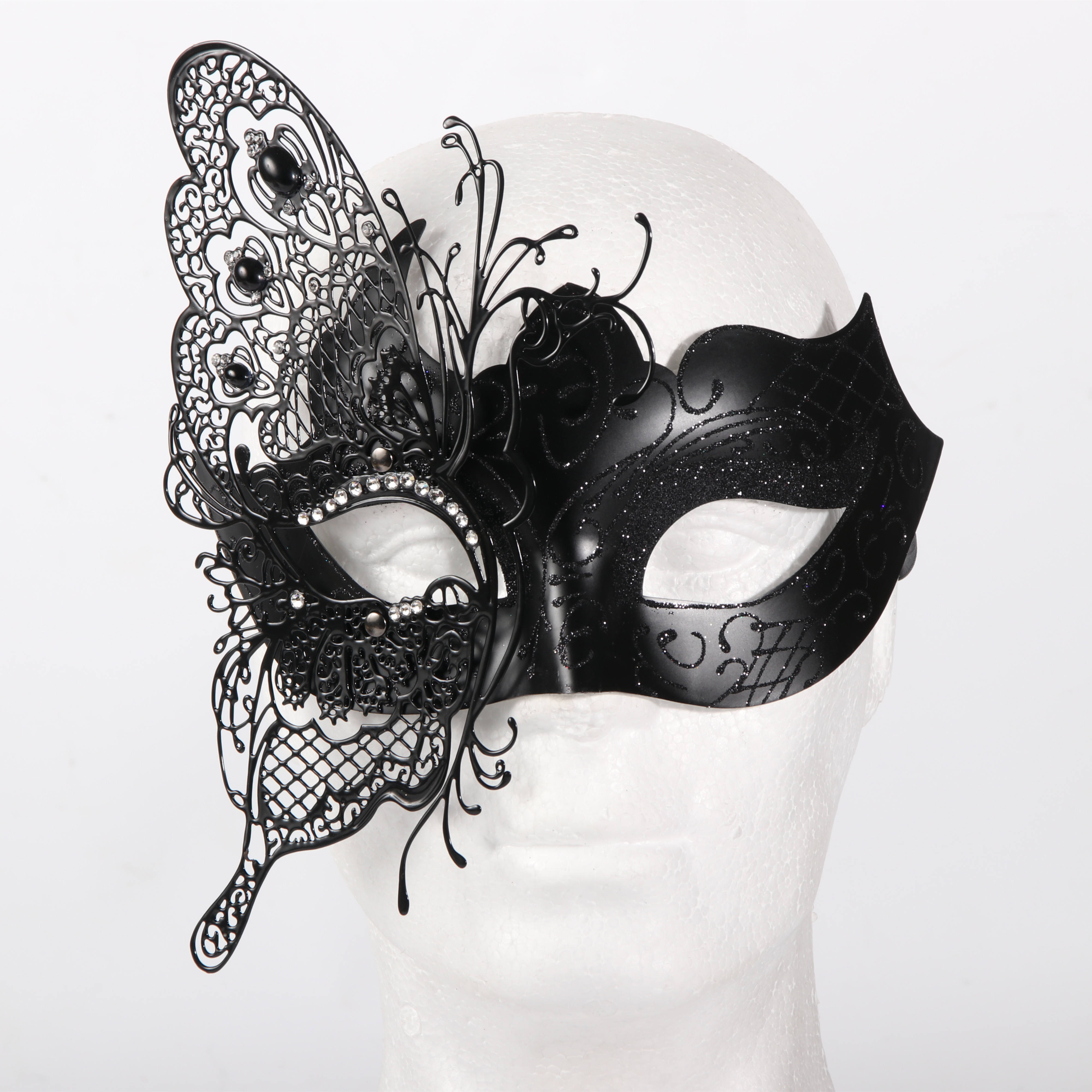 High quality Fashionable Women Metal Butterfly mask Masquerade party Mask