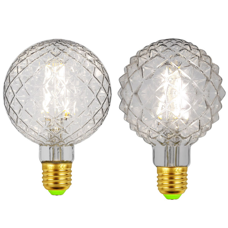 LED Pineapple/Pumpkin shape BL95N4A/6A/8A/10A/12A optional E27/E26/B22 3.5W four-wick filament bulb with high luminosity