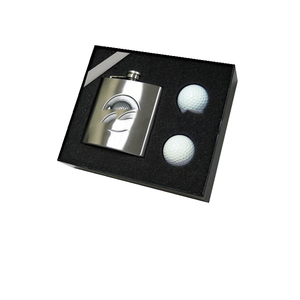 Stainless Steel Hip Flask dengan Gelas Set