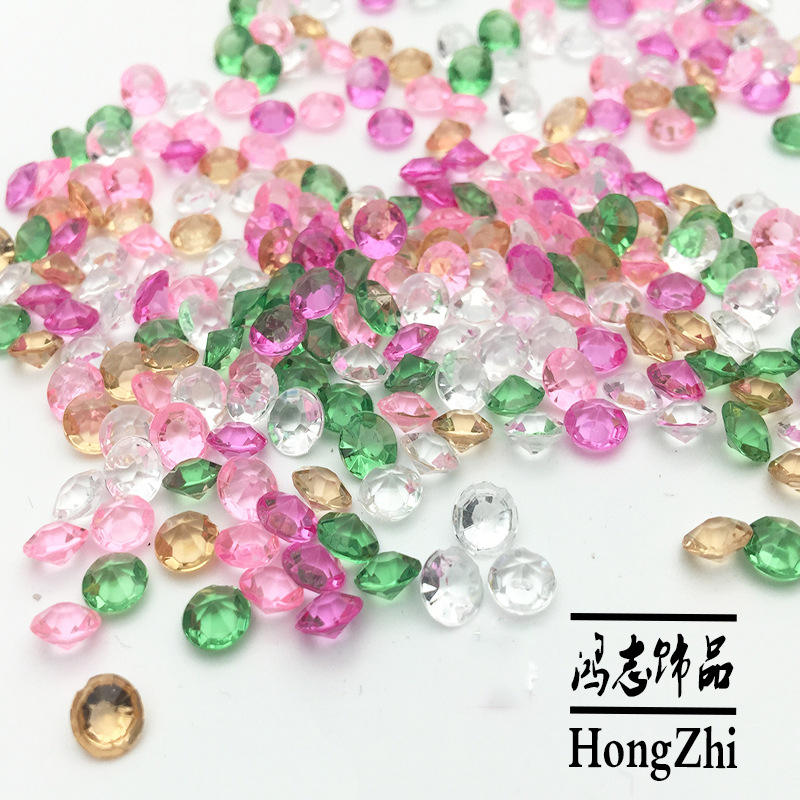 Hongzhi Transparent Acrylic Beads Factory Wholesale Small Size Plastic Diamond Beads For Decoration Wedding Display Vase Fillers