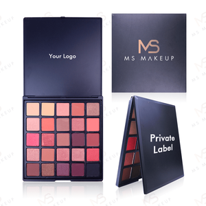 Ms Low Moq 25 Colors Black Skin-friendly Makeup Vegan High Pigment Custom Cheap Private Label Eye Shadow Eyeshadow Palette