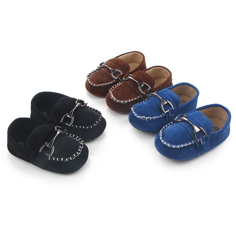 New fashion Faux suede soft cotton sole 0-18 months boy Moccasins Baby loafers
