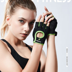 Fitness breathable thin exercise anti-slip sports cycling training gym dumbbell half finger gloves for men and women