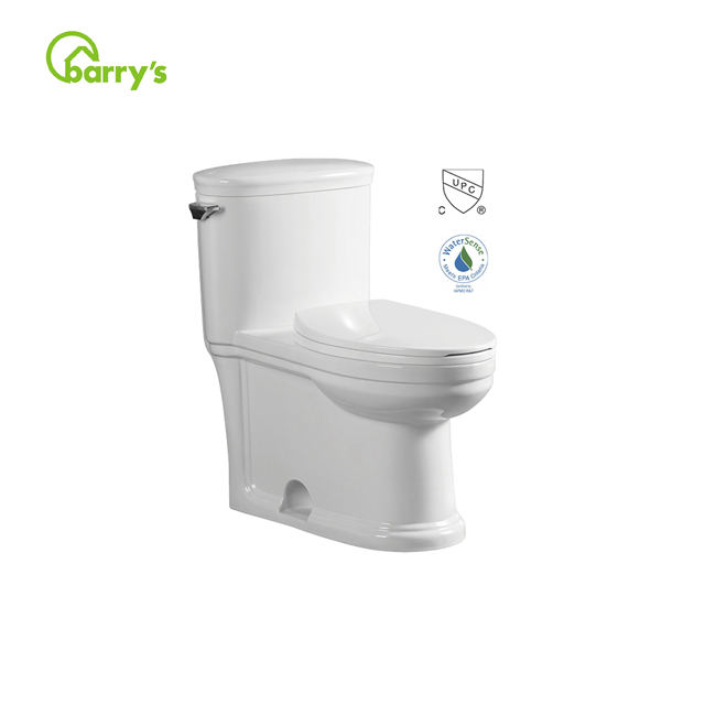 China manufacturer standard UPC ceramic dual flush Elongated one piece toilet bowl