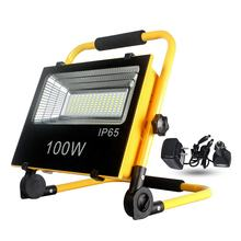 100w Led 2000 Lumen Rechargeable Portable Solar Flood Light