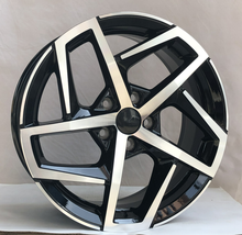 17x7 inch 5 holes pcd 5*112 black machined face aluminum alloy mag wheel rim for car in high quality