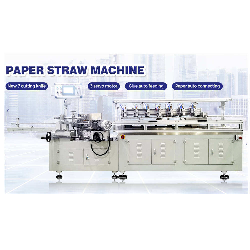 GDM7-1DX, 7 Cutting Knife Model Paper Straw Making Machine, Auto Paper Connecting