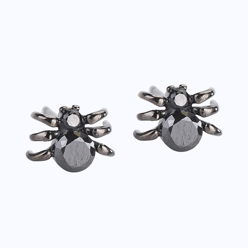 Halloween Silver Jewelry Halloween Earrings Women 925 SIver Man Spider Earrings