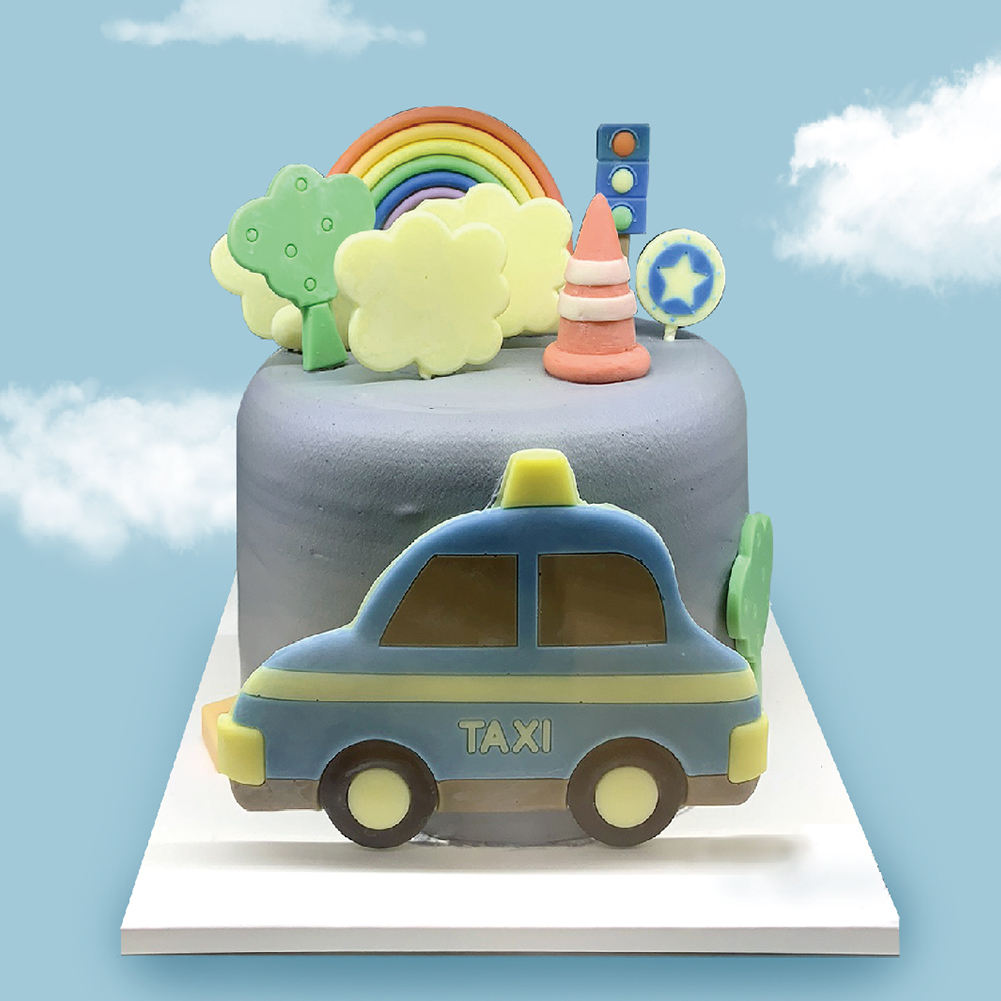 Rainbow Day People Work Convenience Taxi Chocolate Cake Decoration Candy Lollipop