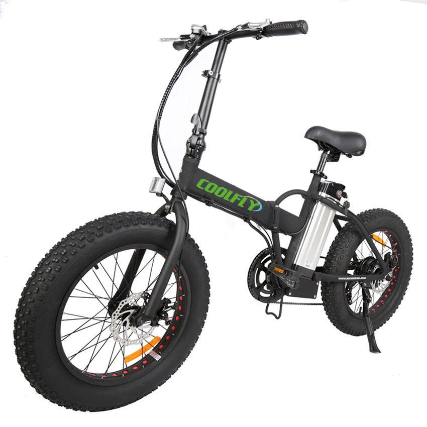 Coolfly FATbike20 <span class=keywords><strong>gấp</strong></span> xe đạp điện 500w 36v hợp kim nhôm khung