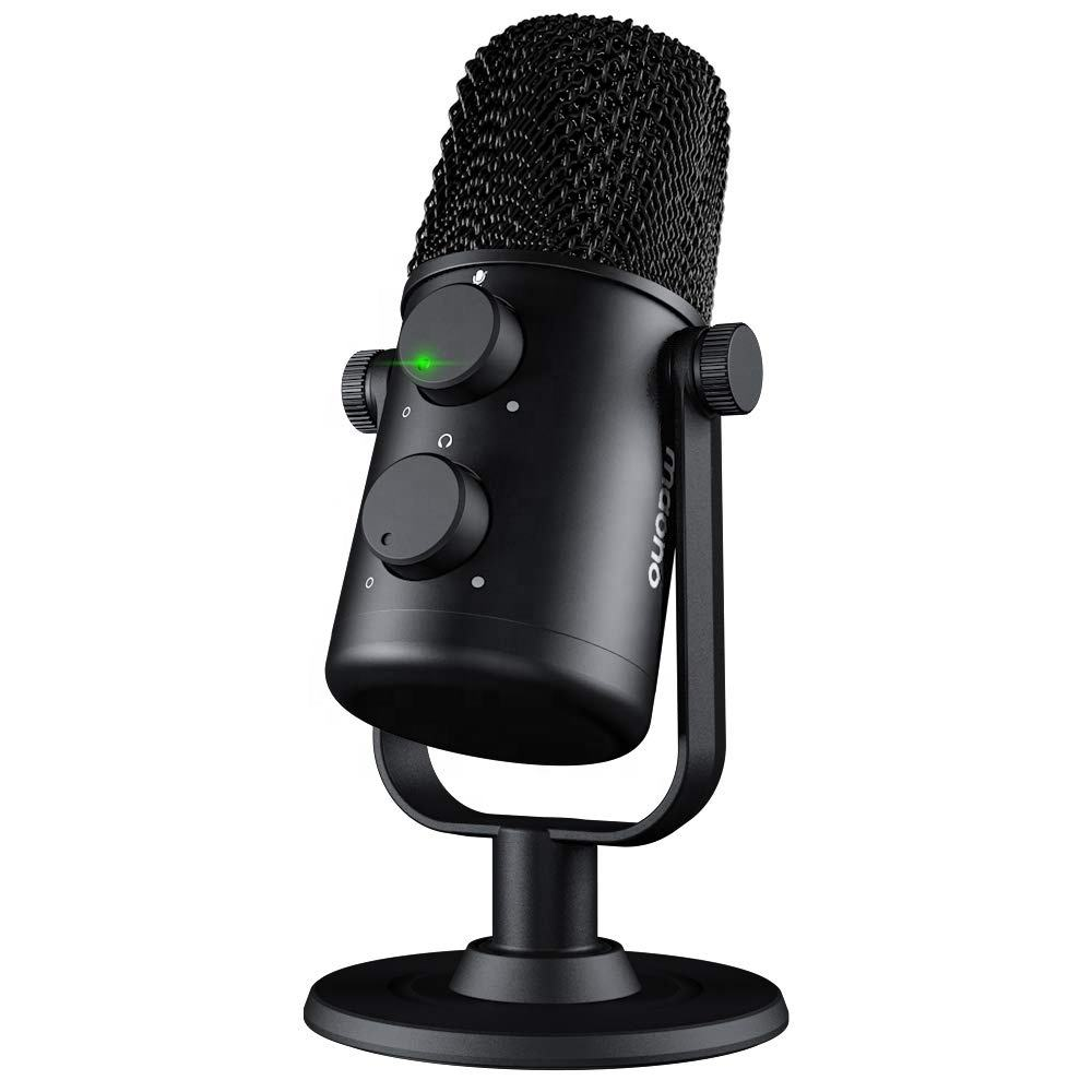 Maono design condenser microphone for laptop type c computer microphone