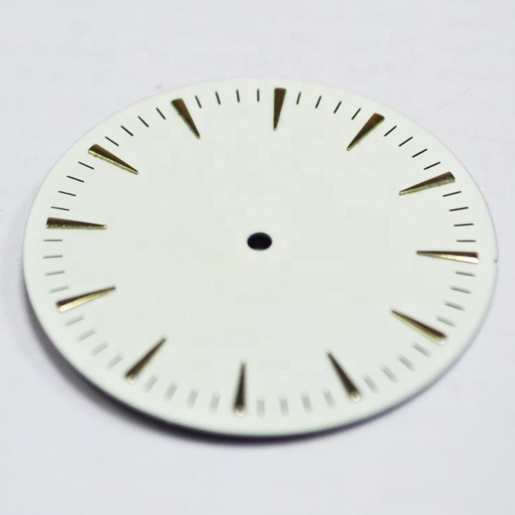 Custom Your Logo Cheap Price Watch Dial Parts With 3D Applied Indexes Minimalist Matt White Dial