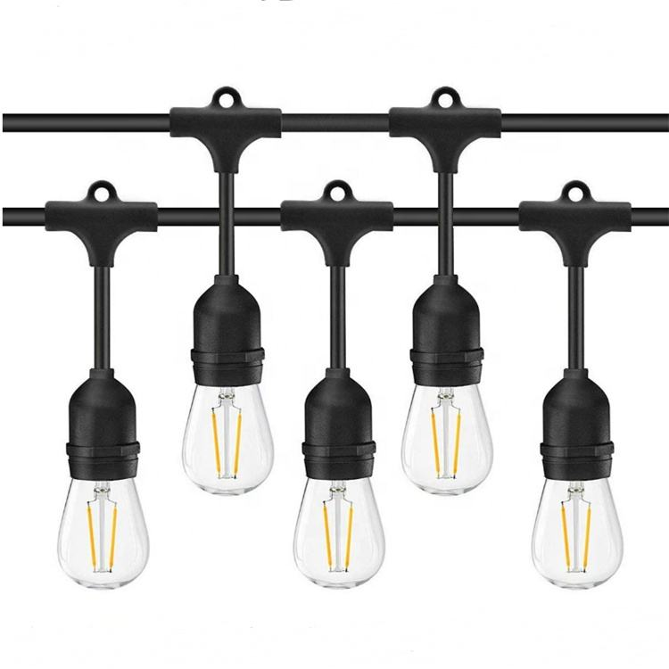 Beste Waterdichte Outdoor String Lights Met 24 Dropped Sockets E26 <span class=keywords><strong>Edison</strong></span> Clear Led Lamp Inbegrepen