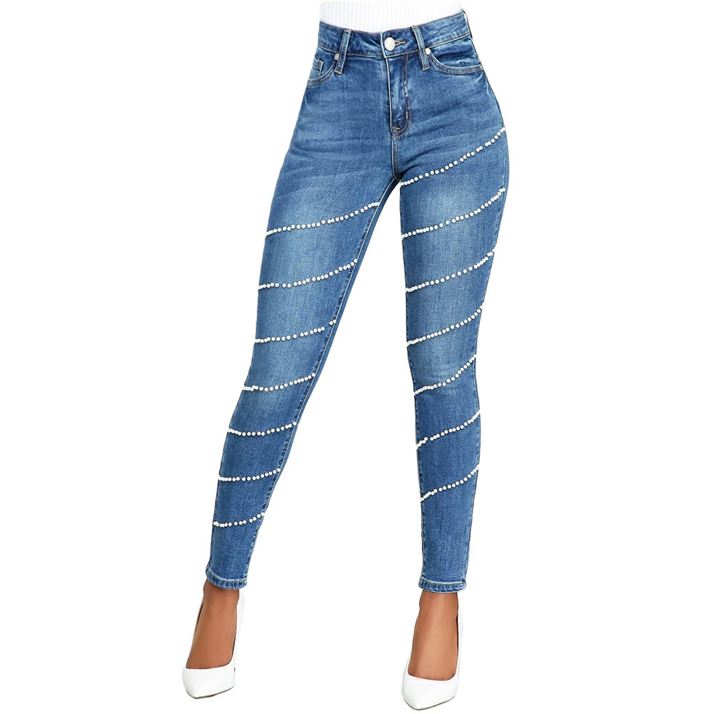 YHSG230 Sexy Women Skinny Jeans Rivet Pants Low Rise YH-SGasual Denim Jeans
