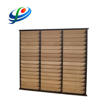 Aluminum fixed louver fence panel aluminum slat fence horizontal fence