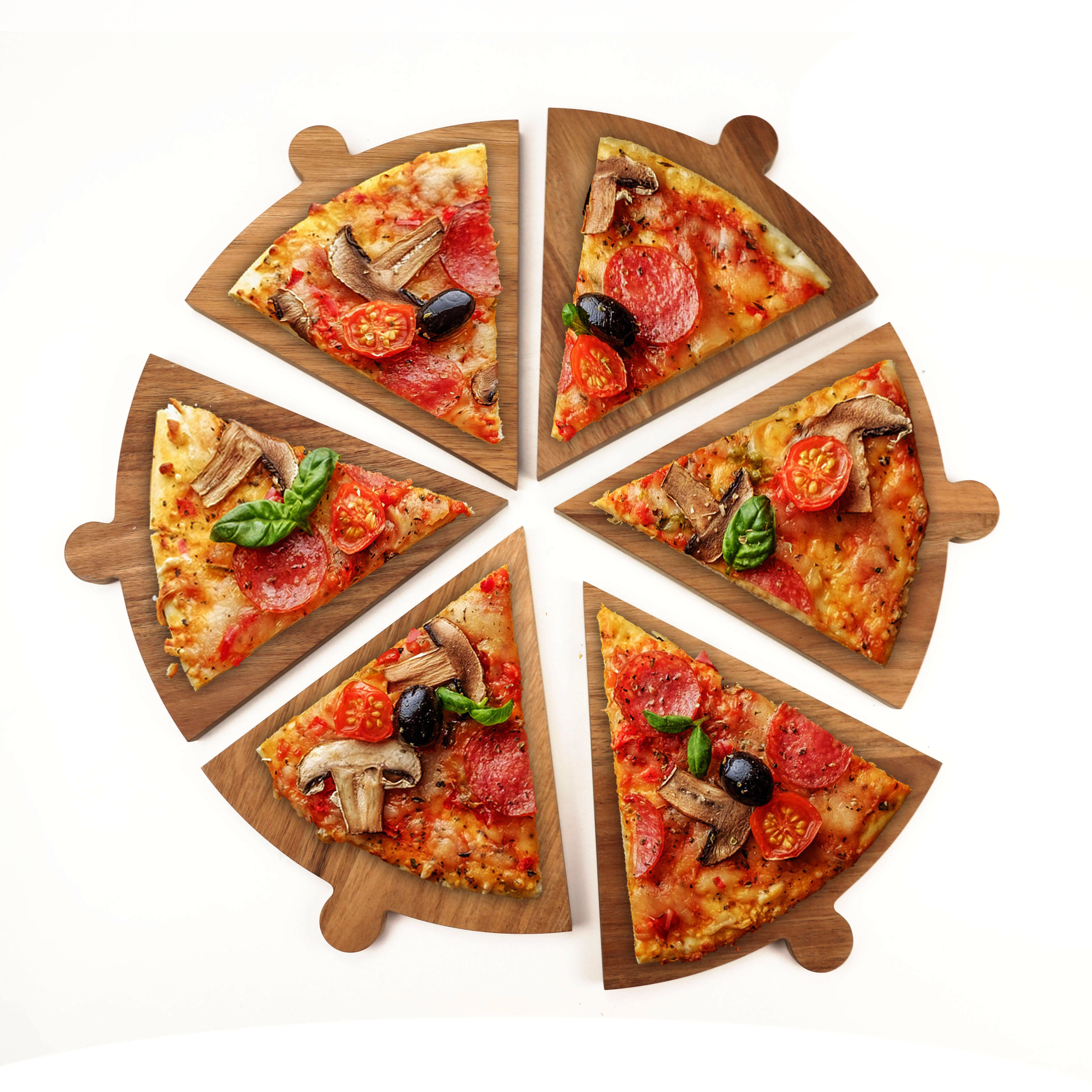 Acacia wood kitchen ,outdoor Cutting Board - Large Round Pizza Wheel