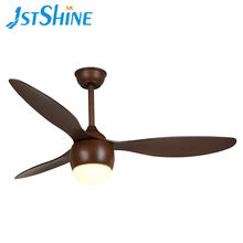 1stshine 3 ABS wooden blade AC decorative ceiling fan with mountable wall control and light