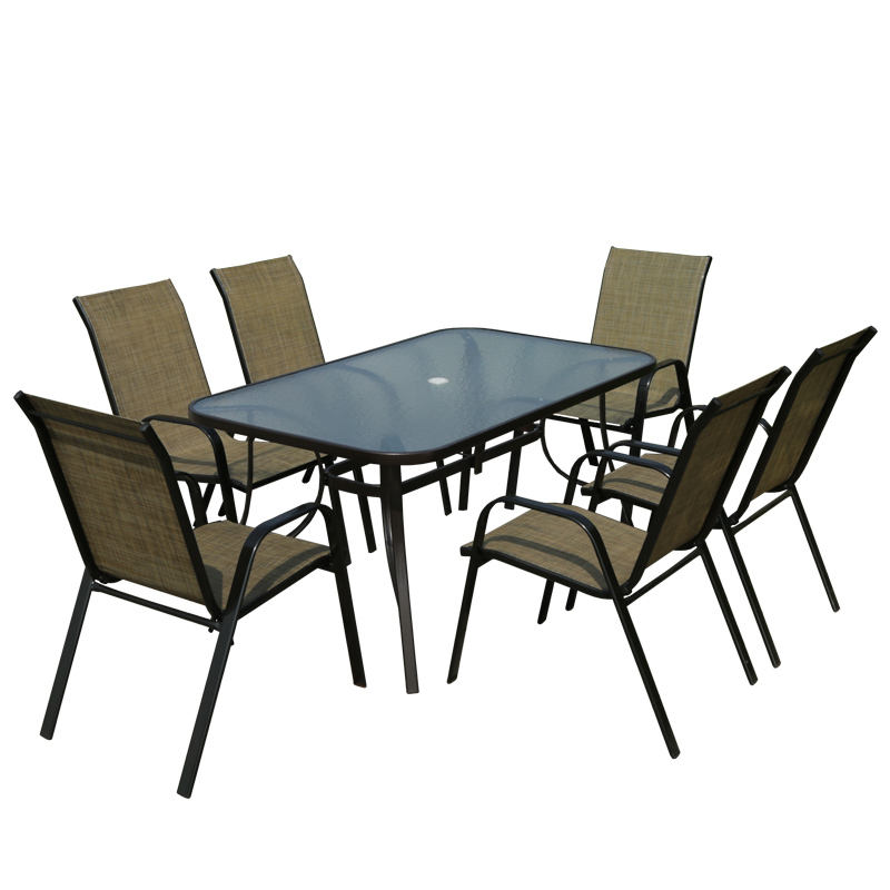 Factory Delivery Outdoor Furniture Rattan Waterproof Dining Tables and Chairs Patio Garden Set