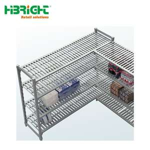 supermarket no rusting plastic and steel Commerical Refridgeration cold room shelf