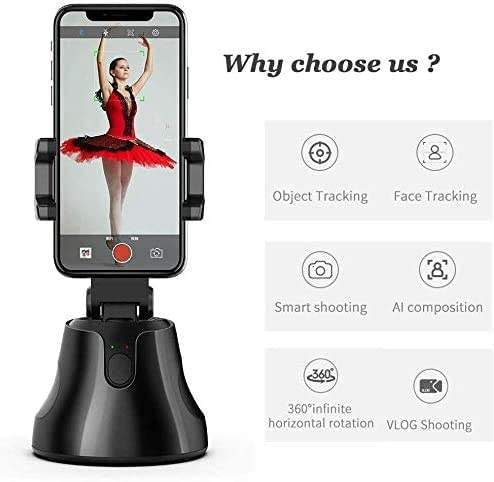 Smart AI Gimbal Personal Robot Cameraman 360 Rotation Portable All-in-one Smart Selfie Stick 360 Rotates Auto Face phone holder