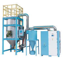 Bottle pet crystal and drying machine