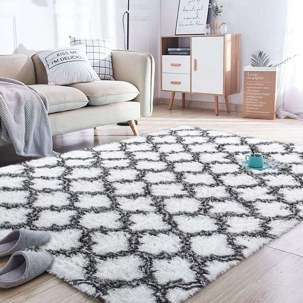 Modern Simple Nordic Geometry Shape Polyester Custom Printed rugs Carpet For Living Room