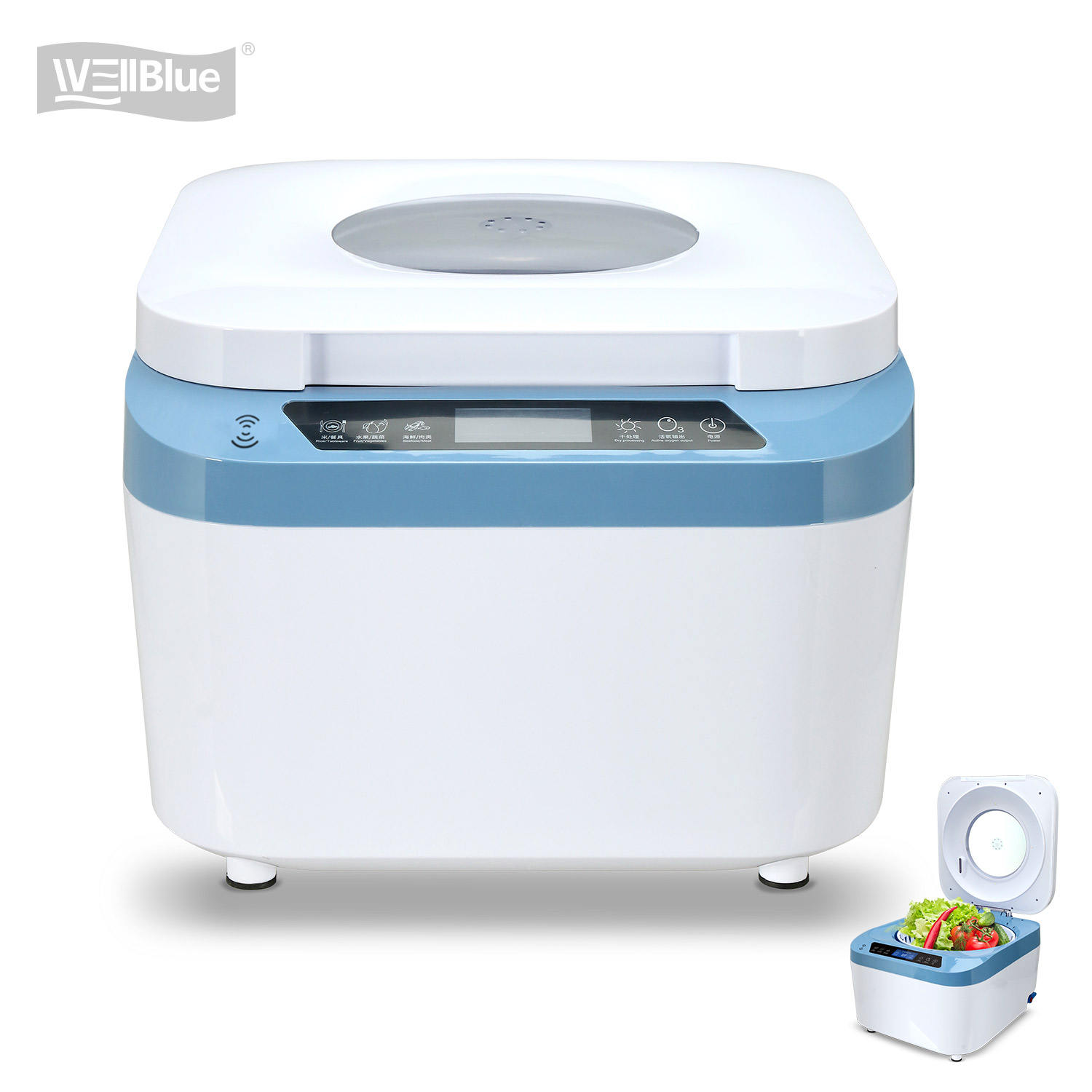 Portable vegetable washer machine ozone vegetable washer with CE ROHS approval