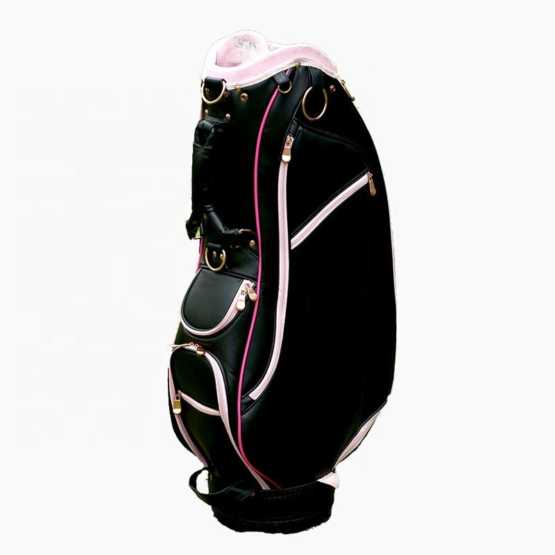 New Design White PU leather golf caddy bag for women