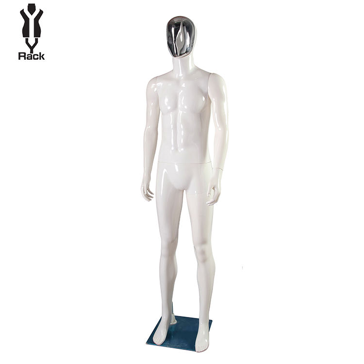 2020 Hot Sale Clothing Store Display Model adjustable Standing Full Body Male sports mannequin Plastic Mannequin