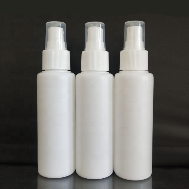 Wholesale 100ml Round PE plastic bottles 100ml empty cosmetic bottle detergent plastic spray bottles