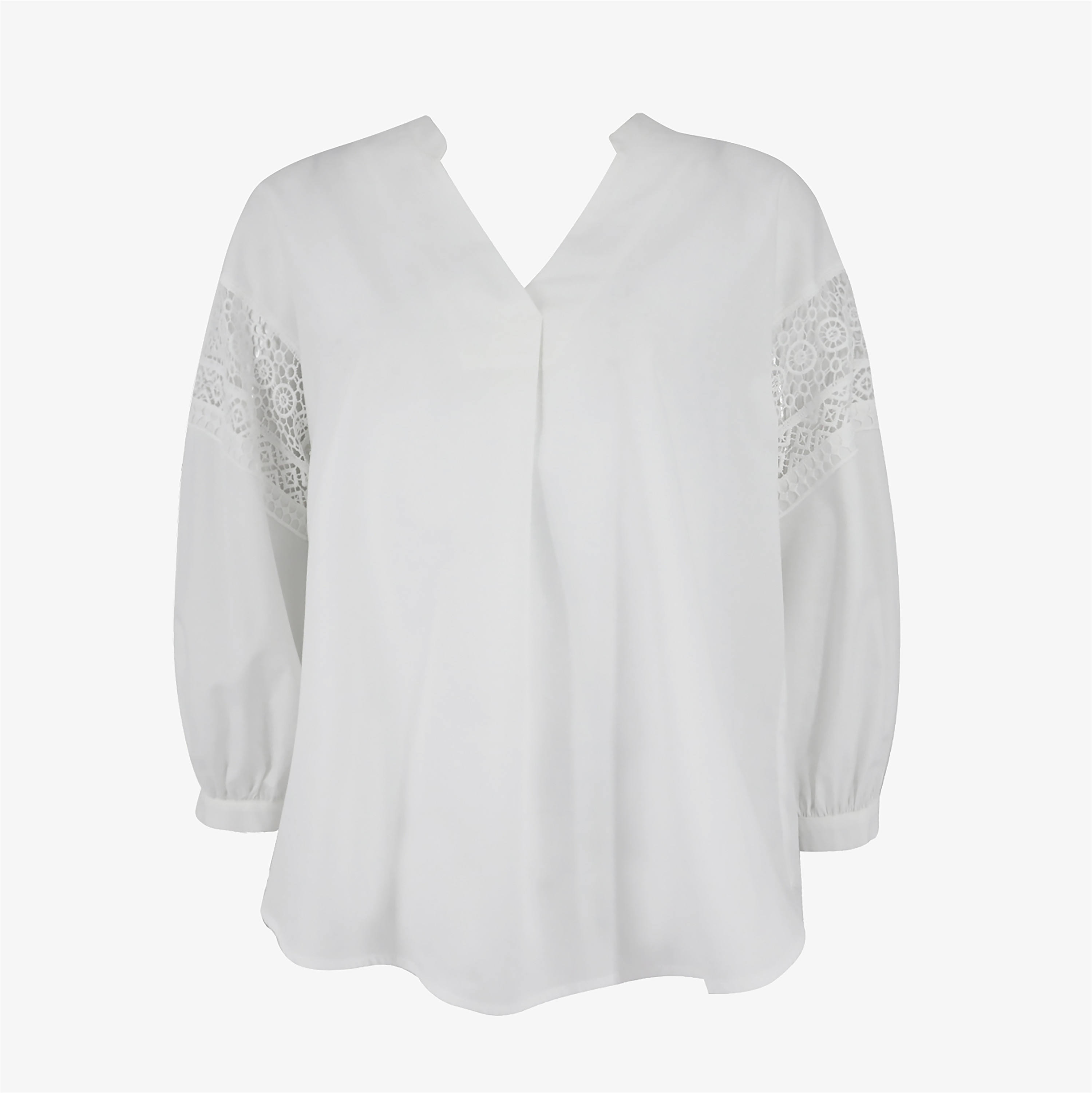 2020 Spring/Summer Fashion V-Neck With Lace at Sleeve For Women Blouse