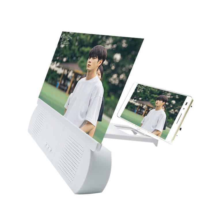 Bluetooth Stereo Cell Phone Stand Sound Amplifier Enlarge Screen For All Mobile Magnifying VR