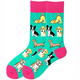 Original combed cotton quality puppy avocado fun men and women in the tide socks