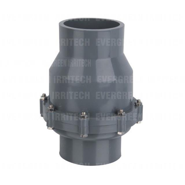 9702-2 1/2-4inch plastic union non return valve swing check valve