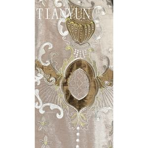 Best Selling Custom Embroidery Patch Velvet Living Room Window Curtains