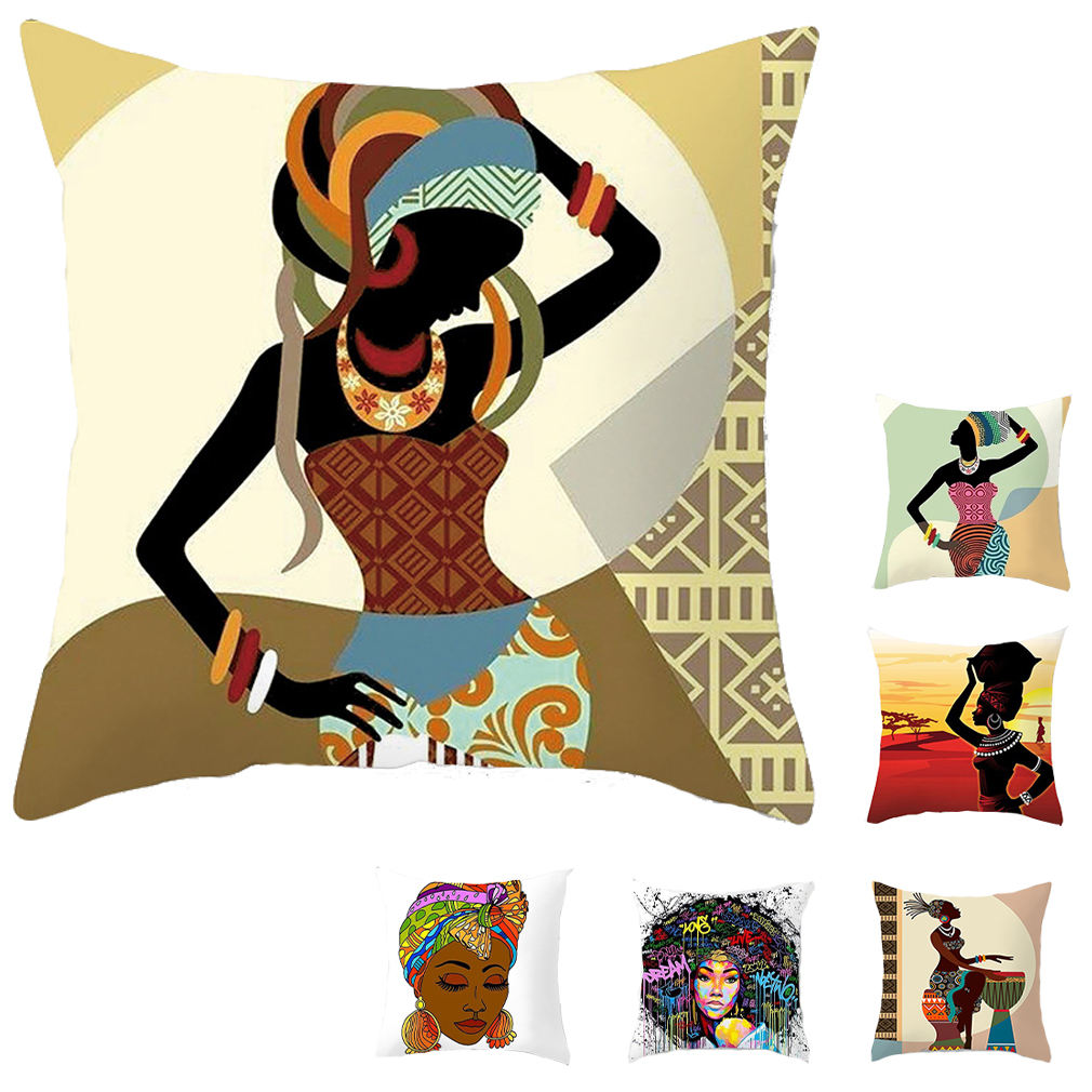 Wholesale Cheap Africa Ethnic Hotel Seat Custom Couch Cushion Cover Cushion