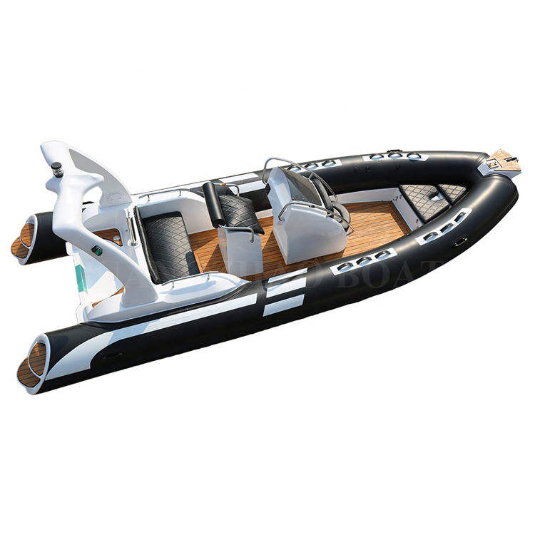 19ft 5.8m luxury sport fiberglass rigid inflatable rib boat 580