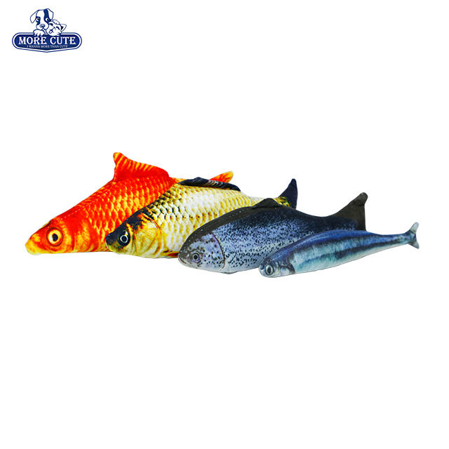 Fish Toy Morecute Pet Product Factory Cat Toys Fish Chew Interactive Plush Pet Toys For Cats L