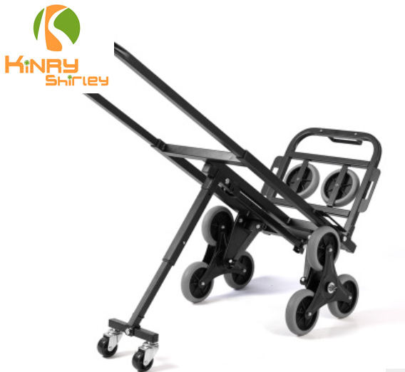 6 wheels Three-whee hand portable cart folding small handy cart luggage trolley stair climber